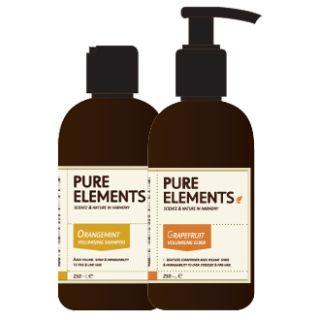 Pure Elements Orangemint Shampoo and Grapefruit Conditioner 250ml  £32.00 image
