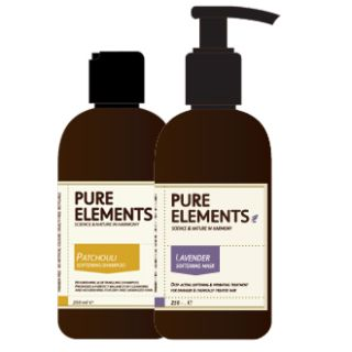 Pure Elements Patchouli Shampoo and Lavender Mask  1000ml  £122.95 image